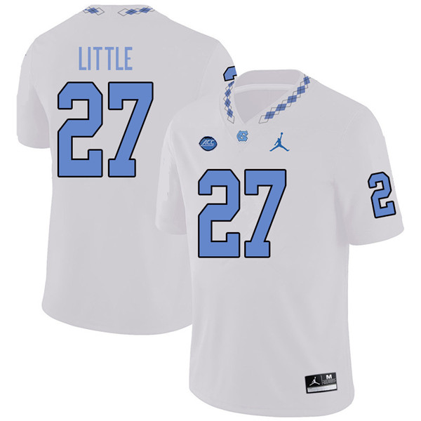 Jordan Brand Men #27 Chavis Little North Carolina Tar Heels College Football Jerseys Sale-White