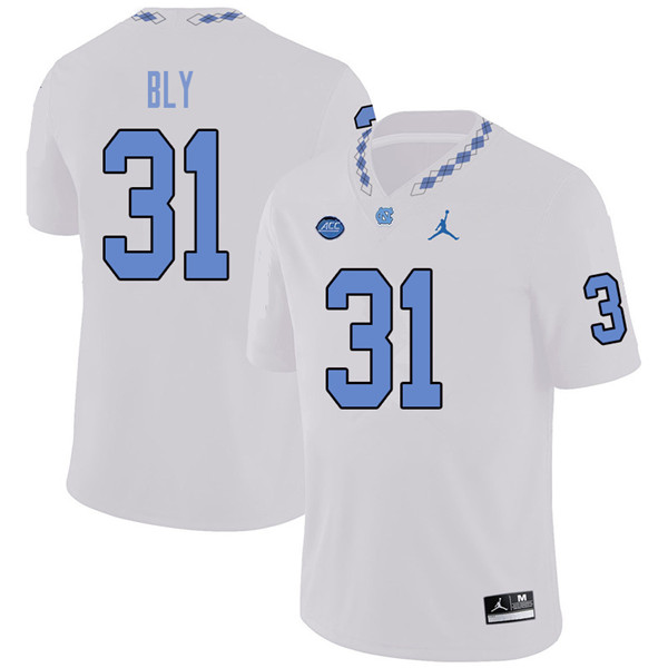 Jordan Brand Men #31 Dre Bly North Carolina Tar Heels College Football Jerseys Sale-White
