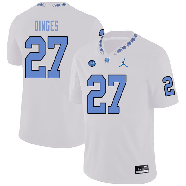 Jordan Brand Men #27 Jack Dinges North Carolina Tar Heels College Football Jerseys Sale-White
